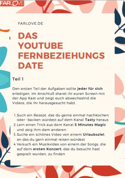 Das PDF zum Youtube Fernbeziehungs Date
